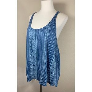 O'Neill Blue Print Halter Back Tank Top Size M